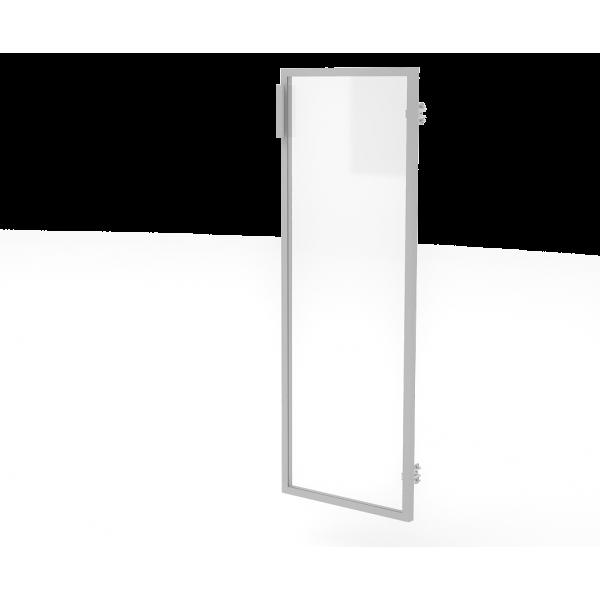 Дверь (в алюм. рам) МСМ21Л/П бл